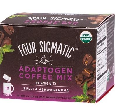 Four Sigmatic Adaptogen Coffee Mix with Tulsi & Ashwagandha - 10 Packets - Rosemary Acre Organics
